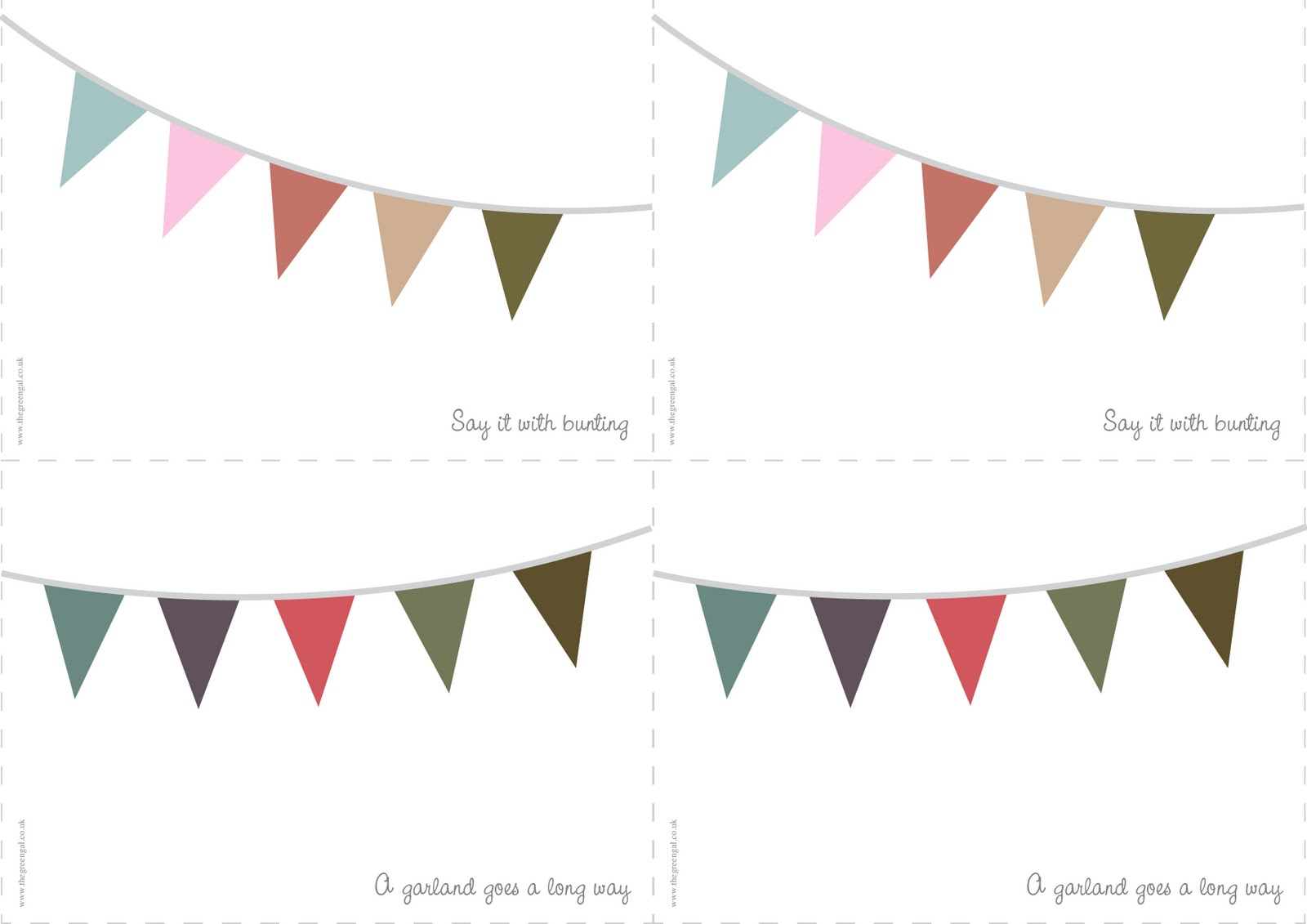 5 Images of Printable Bunting Banner Template