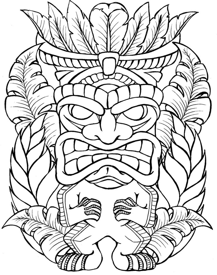 coloring pages tiki - photo #50