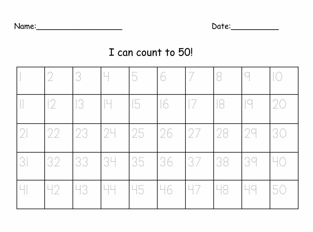 4 Best Images of Printable Number 1 50 Worksheet ...