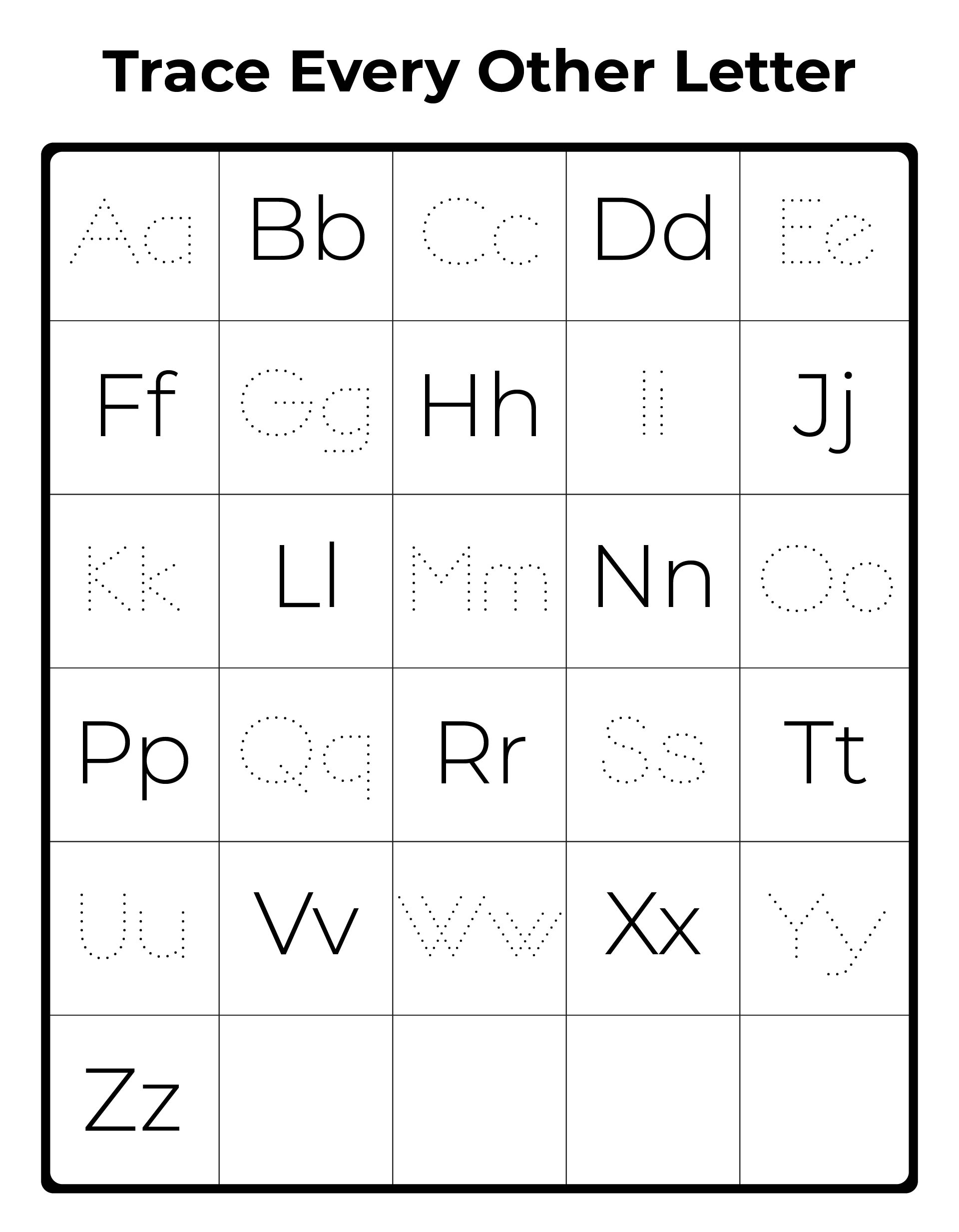 Upper and Lowercase Alphabet Printable