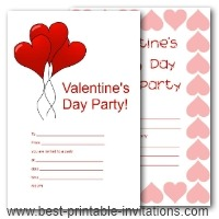 Valentine Party Invitation Templates Printable Free