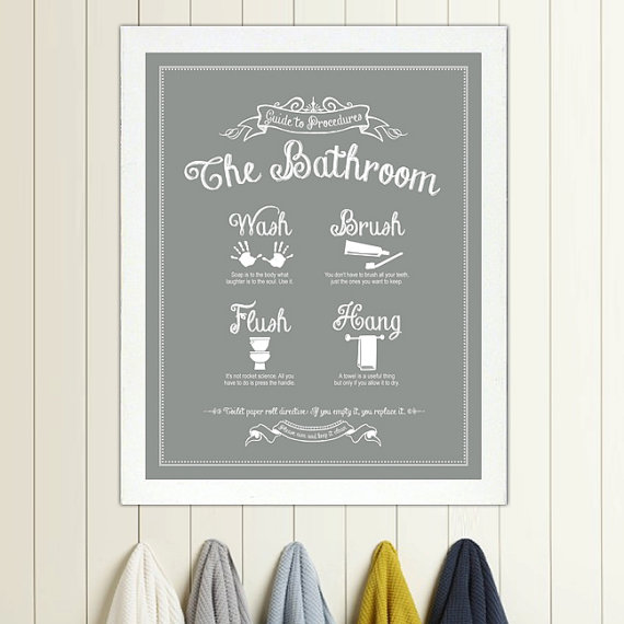6 Images of Vintage Bathroom Printable 8X10