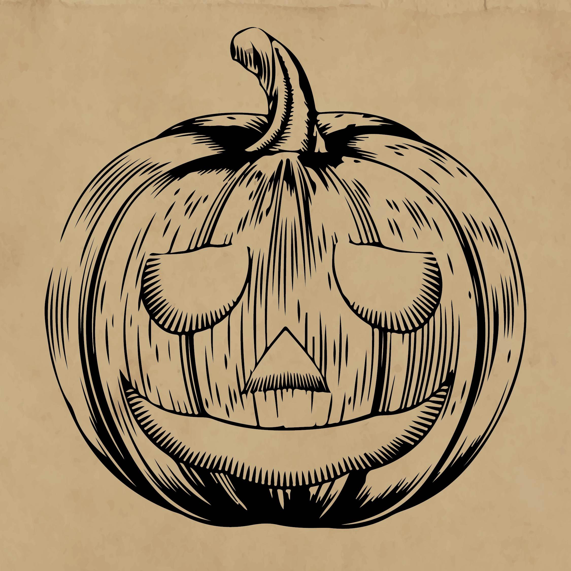 Vintage Halloween Pumpkin Clip Art