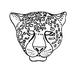 8 best images of zoo of animals printable masks for Cheetah face mask template