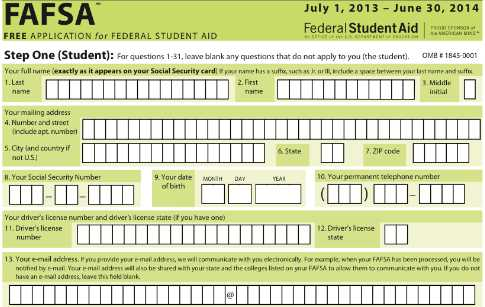 5 Images of FAFSA 2014 2015 Printable Application