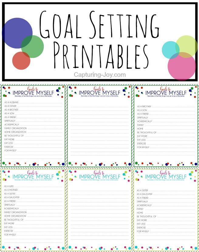 Goal Sheets 2016 - Free Printable Goal Setting Worksheet, 2016 ...