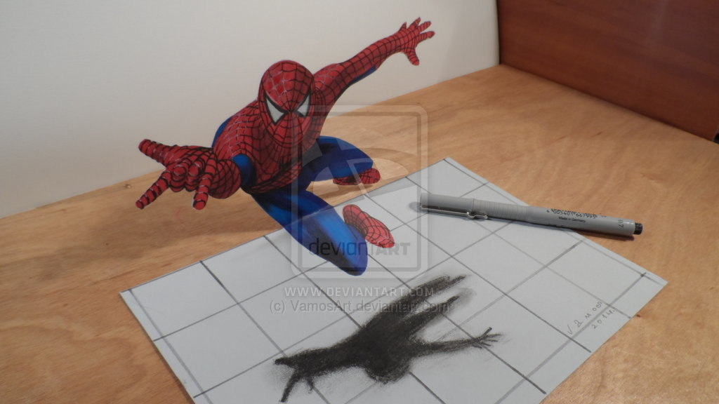 See Anamorphic Optical Illusion Print Outs How To Draw 3D