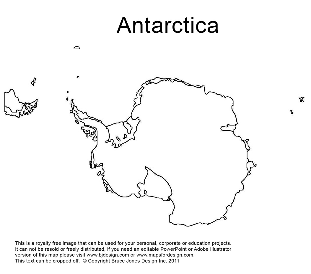6 Best Images of Printable Map Of Antarctica Antarctica Map Coloring Page