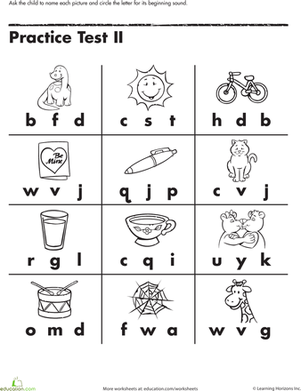 6 Images of Beginning Letter-Sound Activities Printable