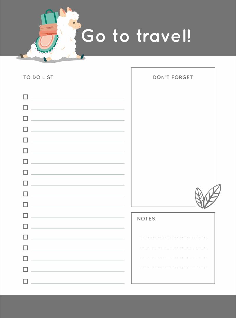 Blank to Do List Printable