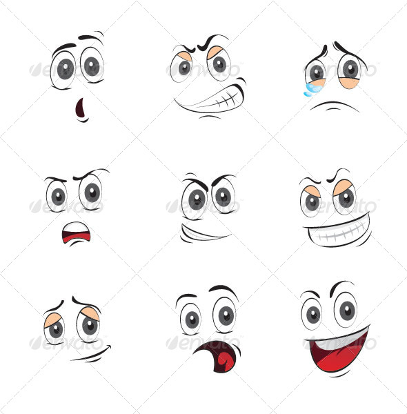 7 Best Images of Printable Cartoon Eyes And Mouth Black