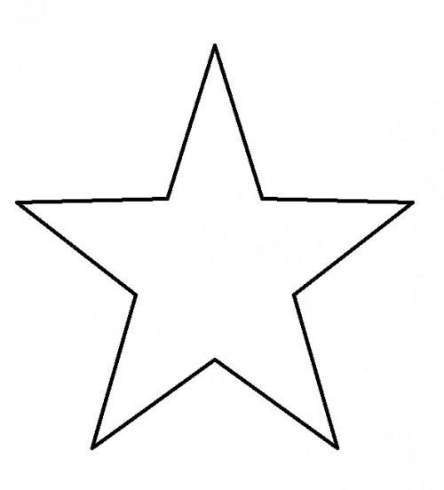 9 Images of 5 Point Star Template Printable