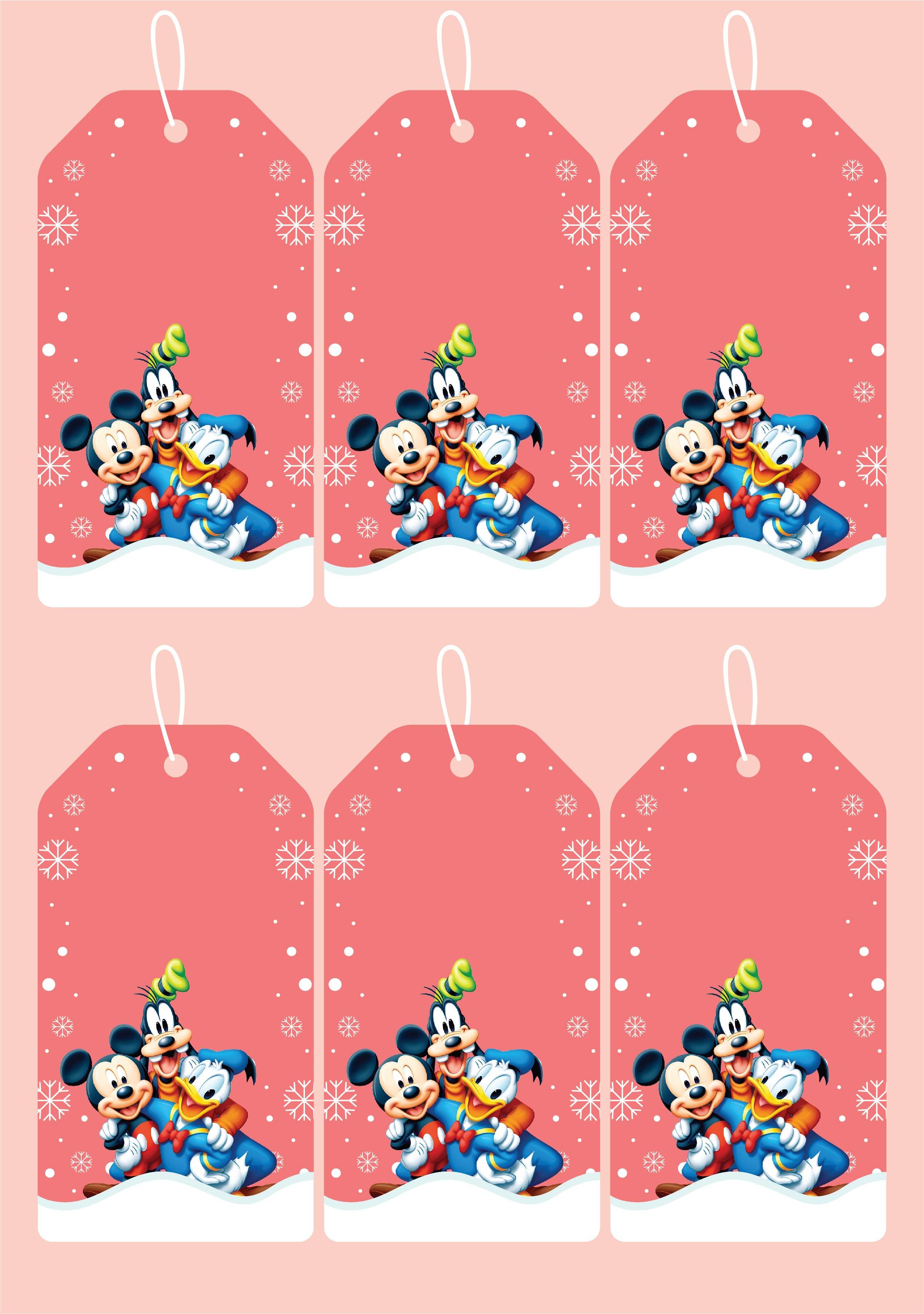 Disney Christmas Gift Tags