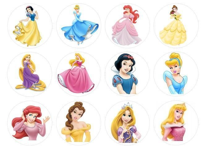 7 Images of Free Printable Disney Princess Cupcake Toppers