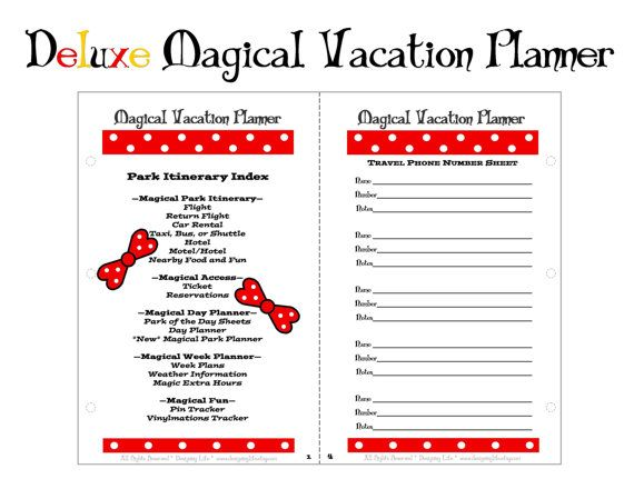 8 Best Images Of Disney Vacation Planner Printable Pages Disney Vacation Planner Printable