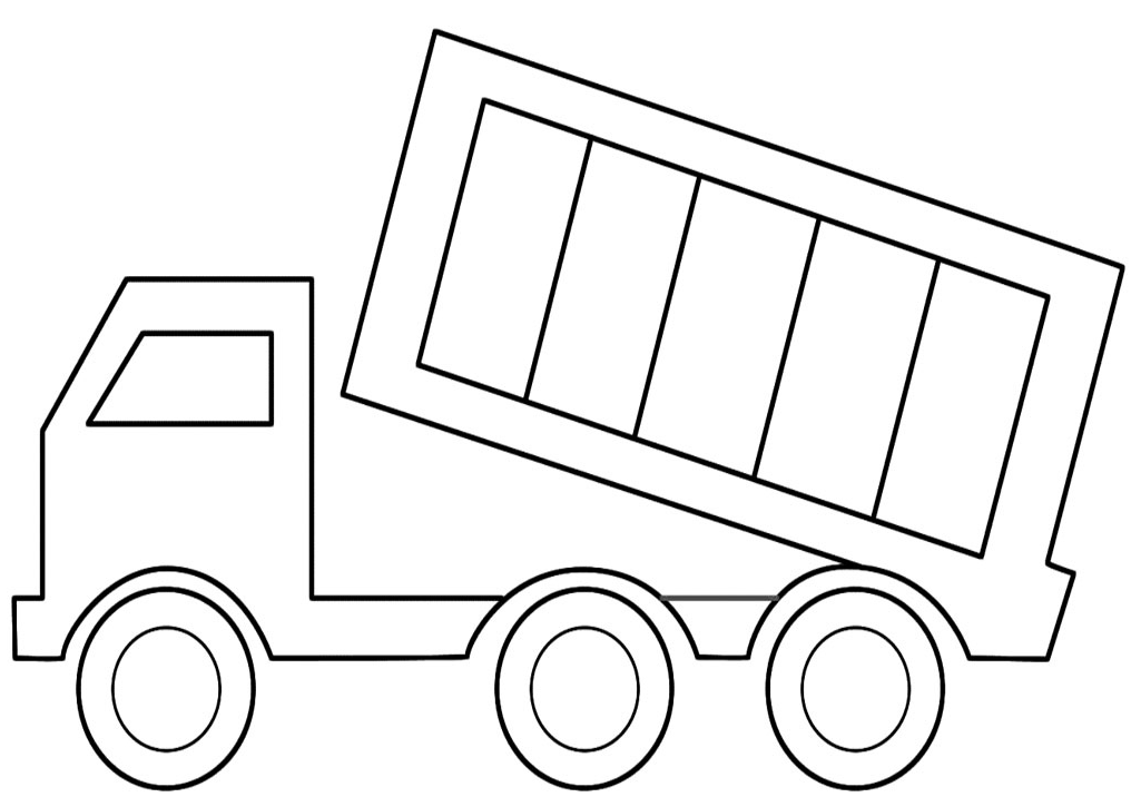 7 Images of Dump Truck Template Printable