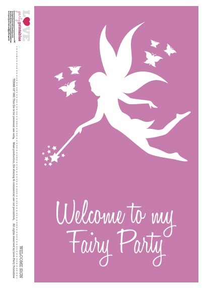 Fairy Birthday Party Free Printables