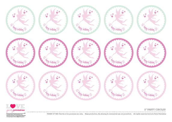 8 Images of Happy Birthday Fairy Free Printables