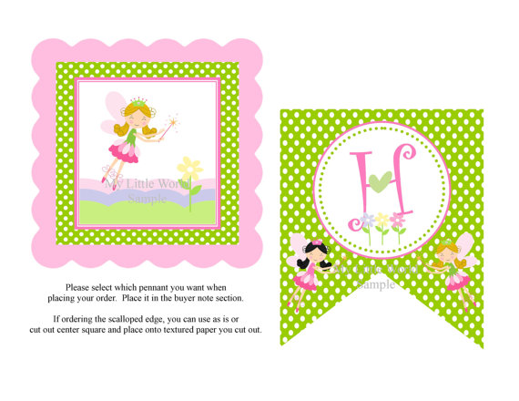 Fairy Happy Birthday Banner Free Printables
