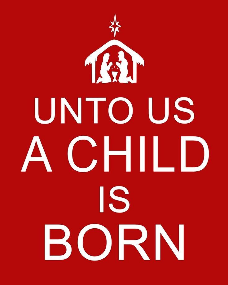For Unto USA Child Is Born Printable