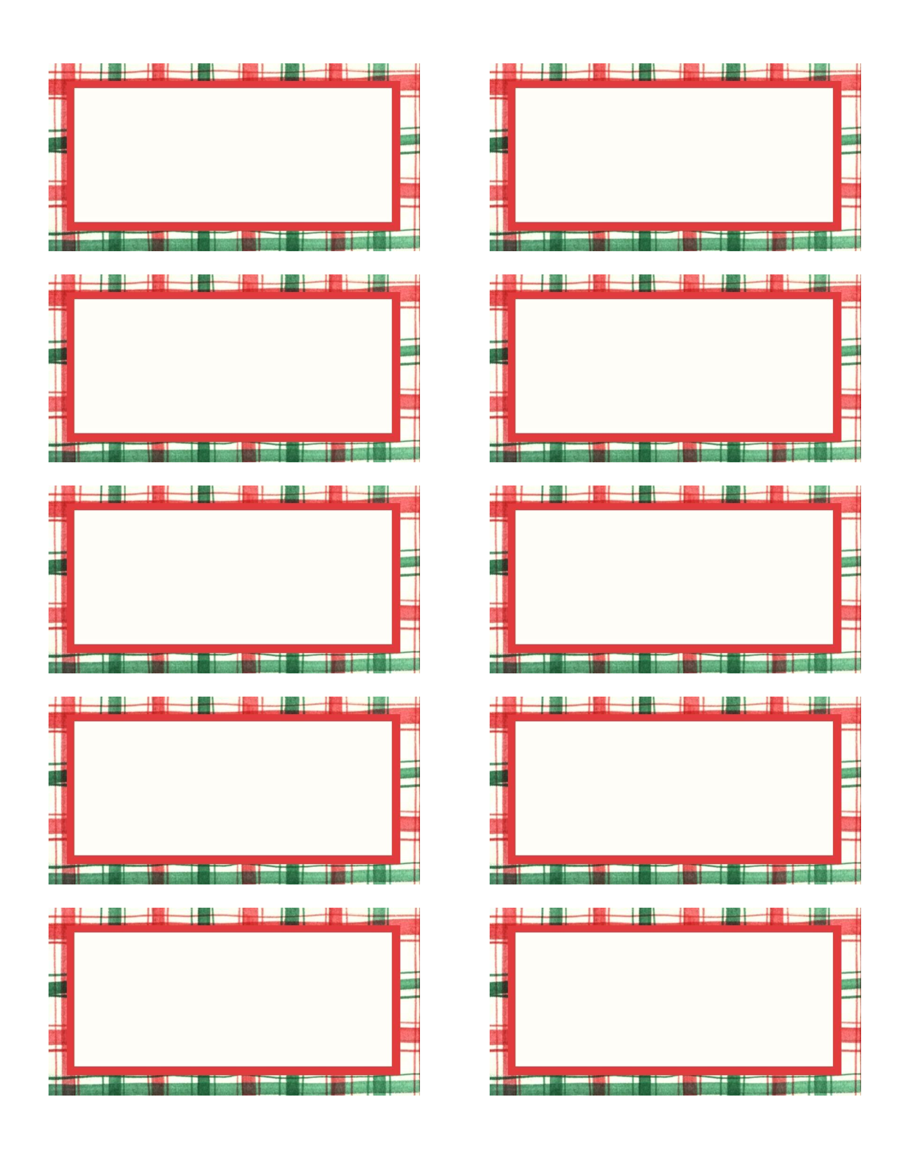 Avery Christmas Tag Label Template