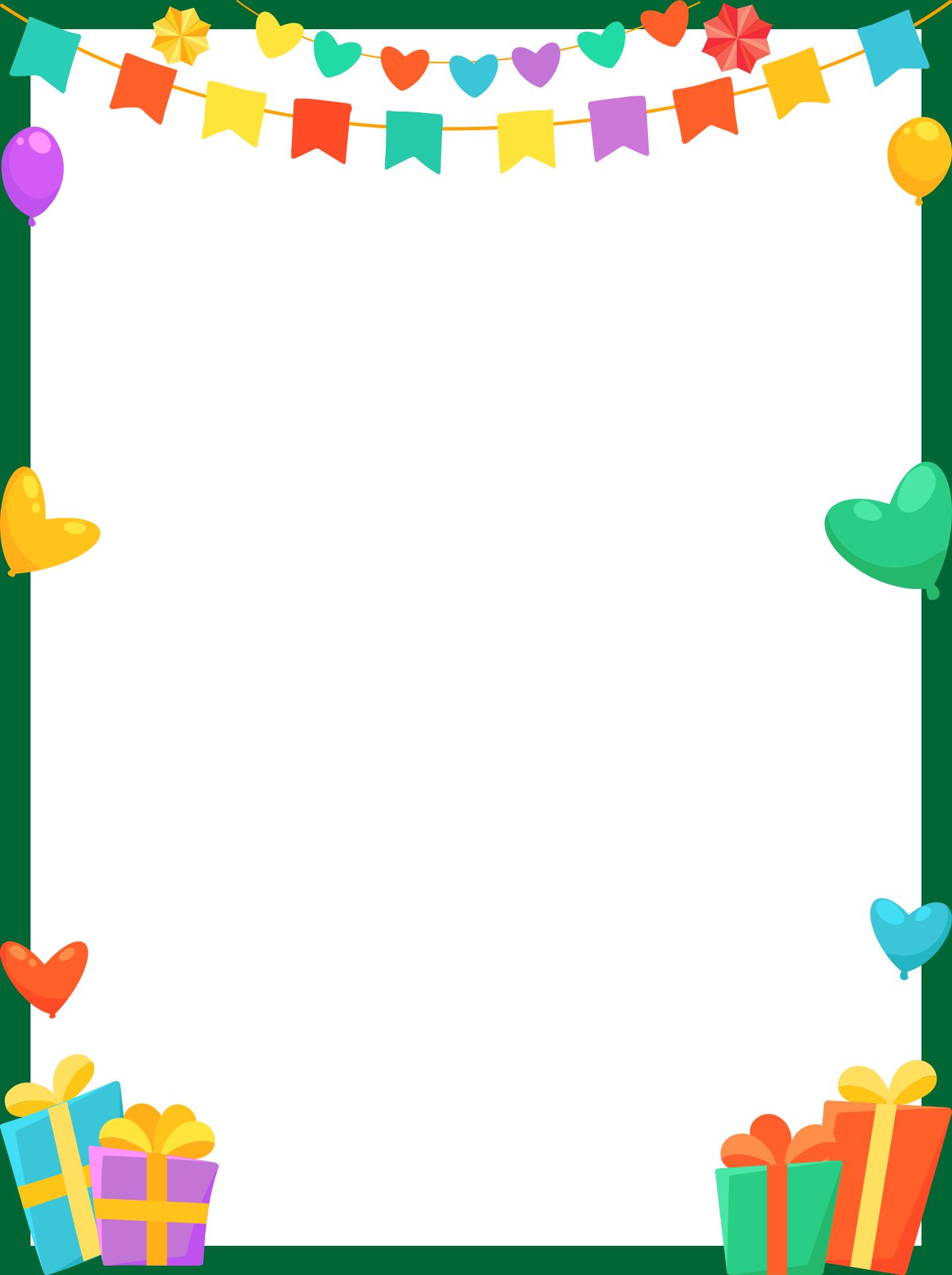 Birthday Page Borders