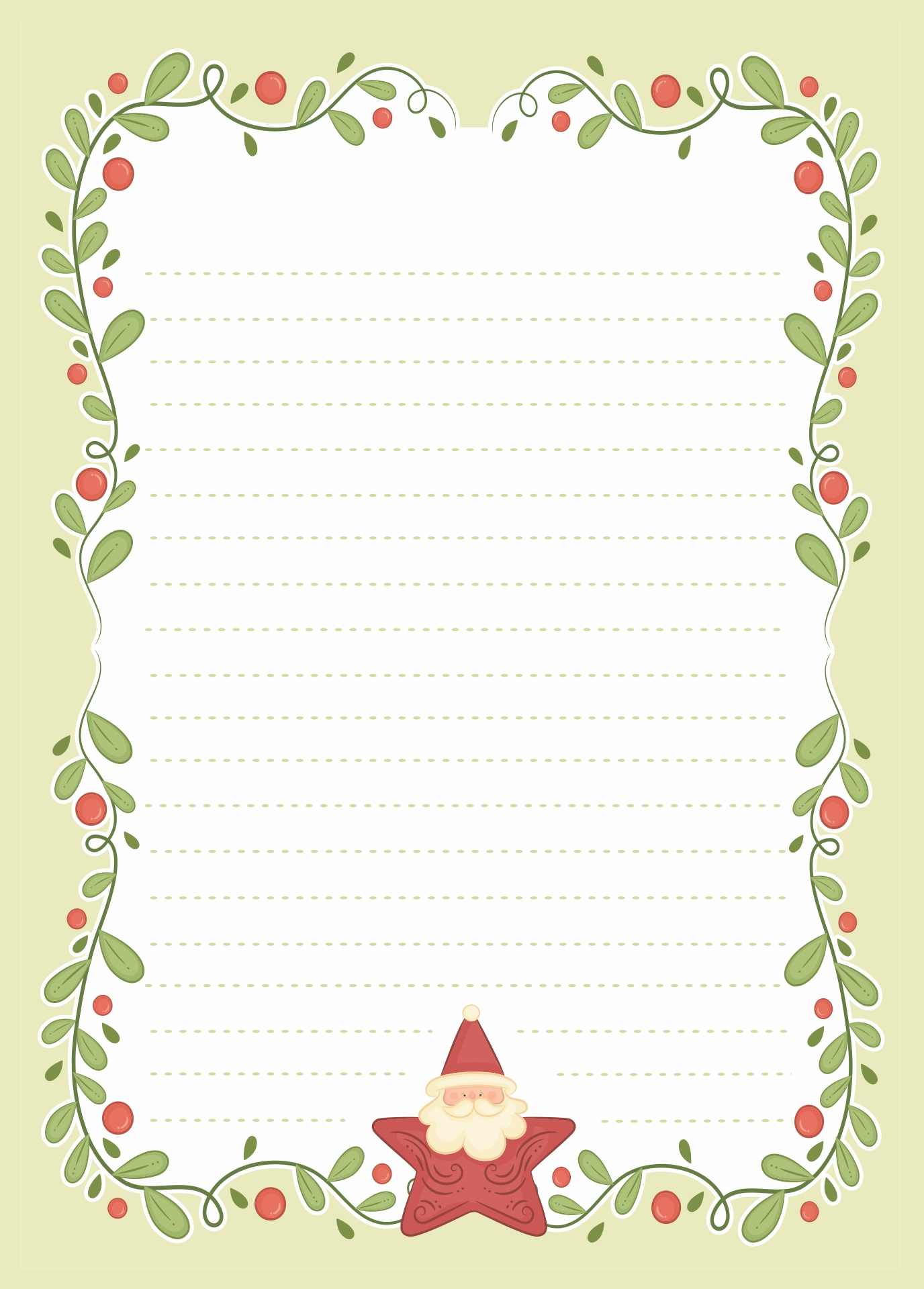 Christmas Letter Paper Templates