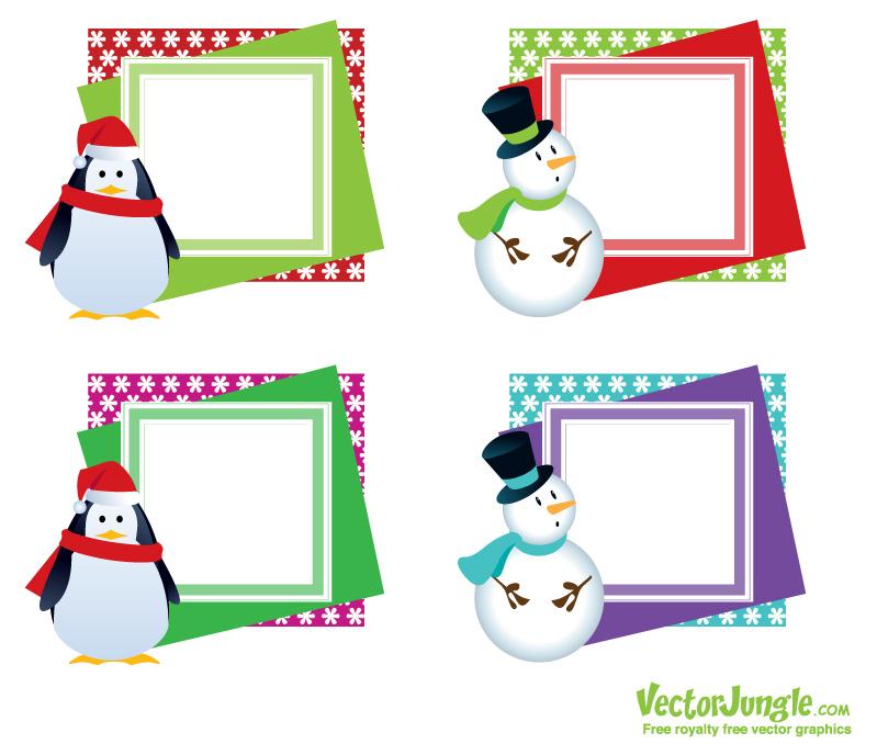 8 Images of Printable Christmas Frames