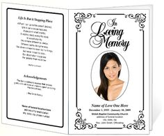 7 Images of Free Printable Memorial Service Program Template