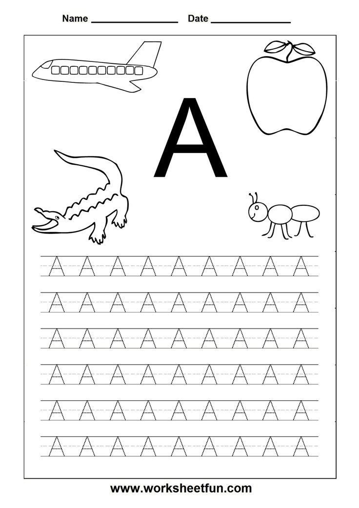 6 Best Images of Preschool Printables Letters A-Z - Printable Preschool Alphabet Letter ...