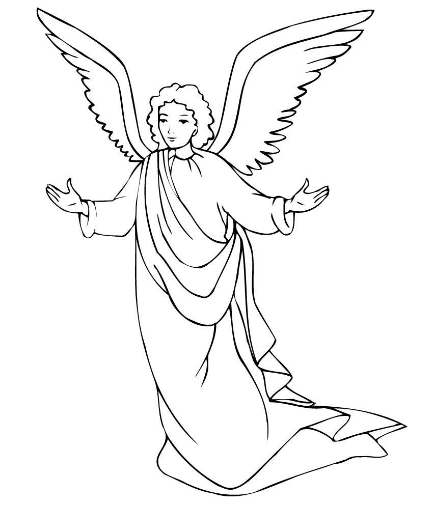7 Images of Angels To Color Printable