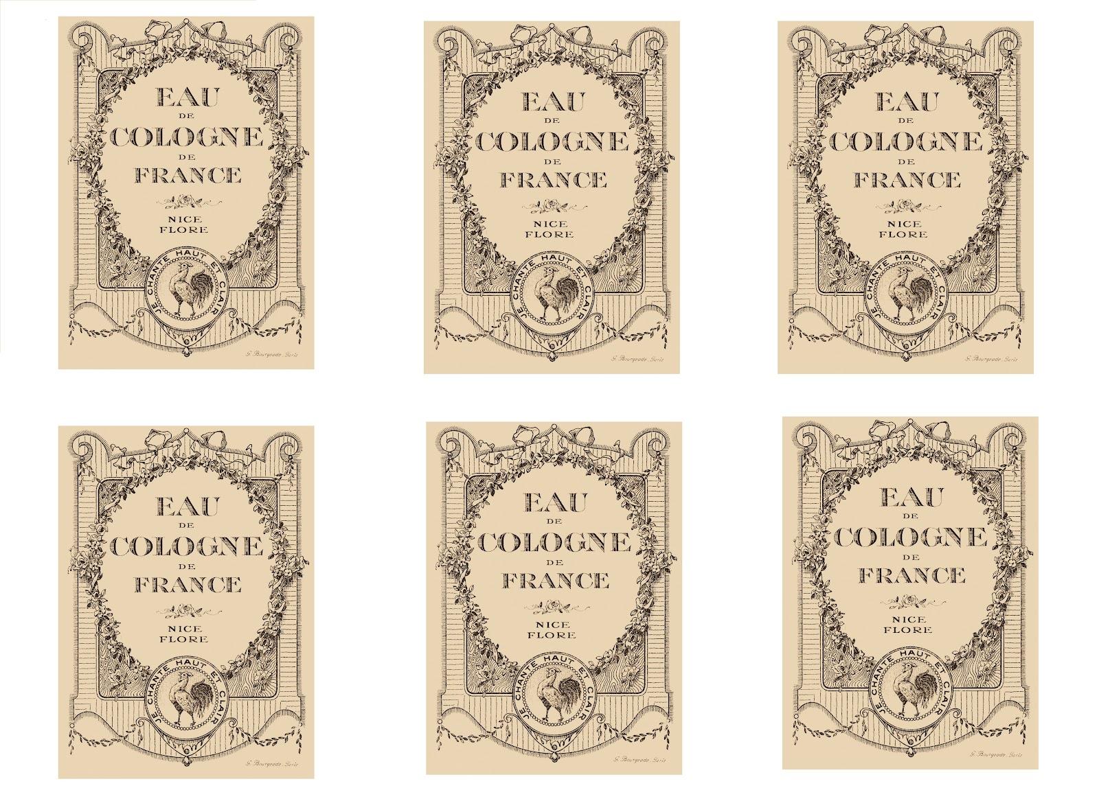 6 Images of Vintage Bottle Labels Free Printable