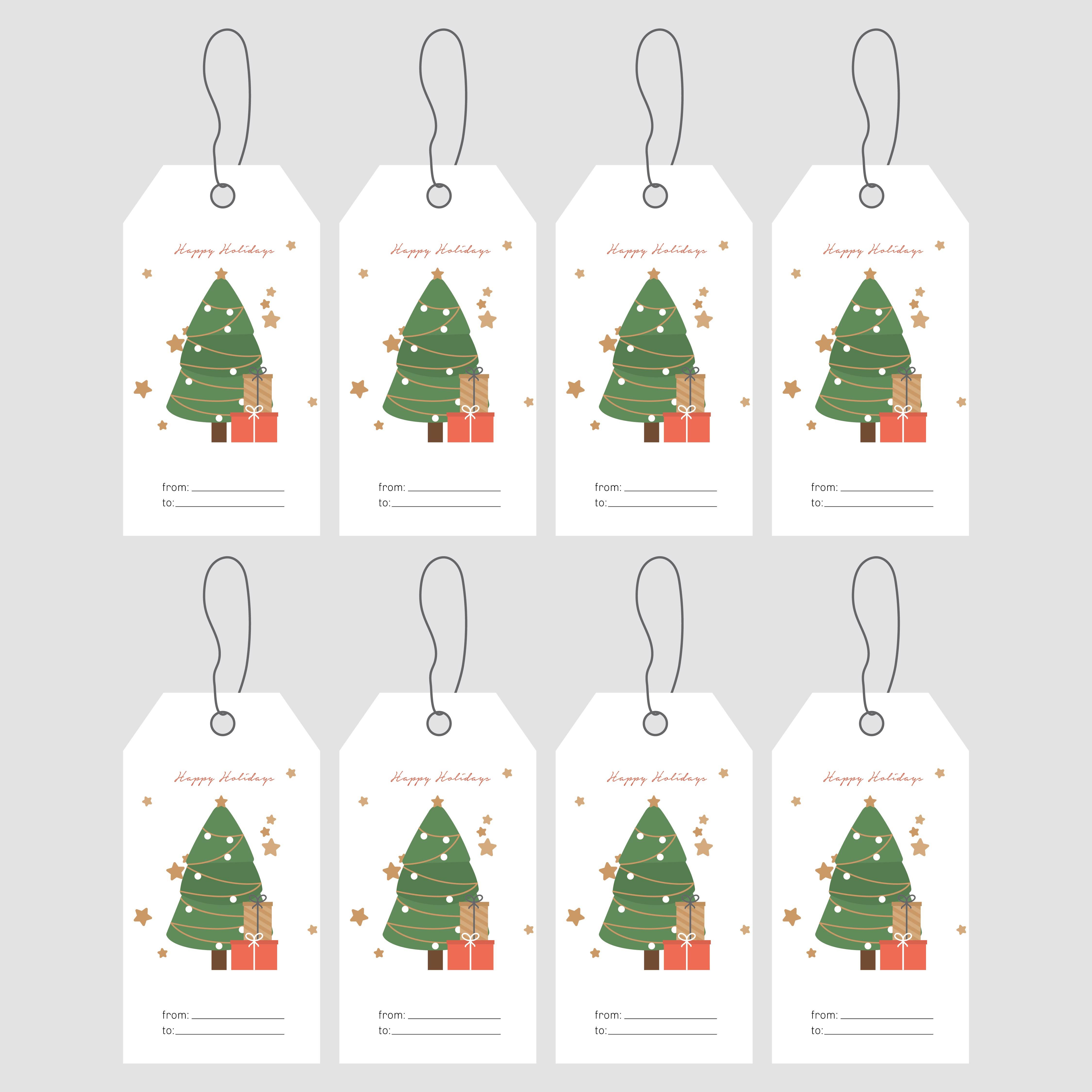 Printable Christmas Gift Tag Label Templates