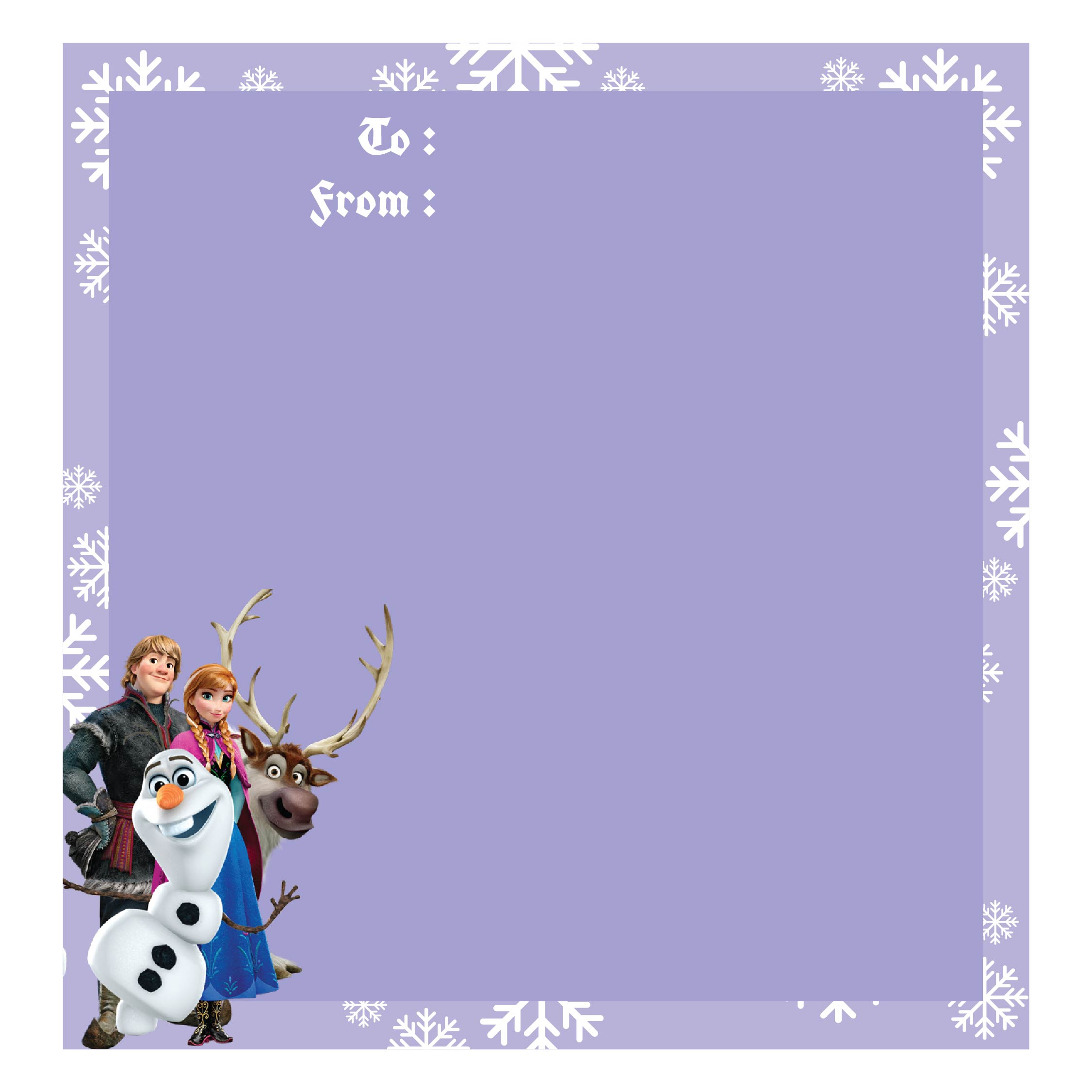 9 Images of Disney Frozen Gift Tags Christmas Printable