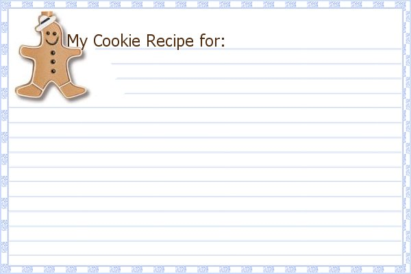 Printable Christmas Recipe Card Template