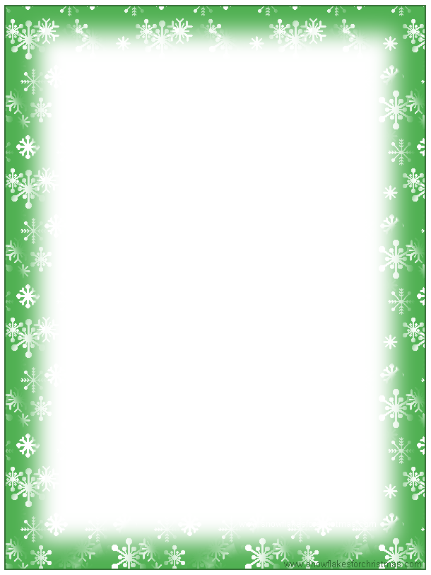 4 Images of Free Printable Stationary Borders Snowflake