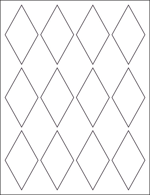 8 best images of diamond template printable diamond