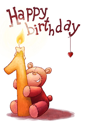 Free Printable Happy 1st Birthday Cards