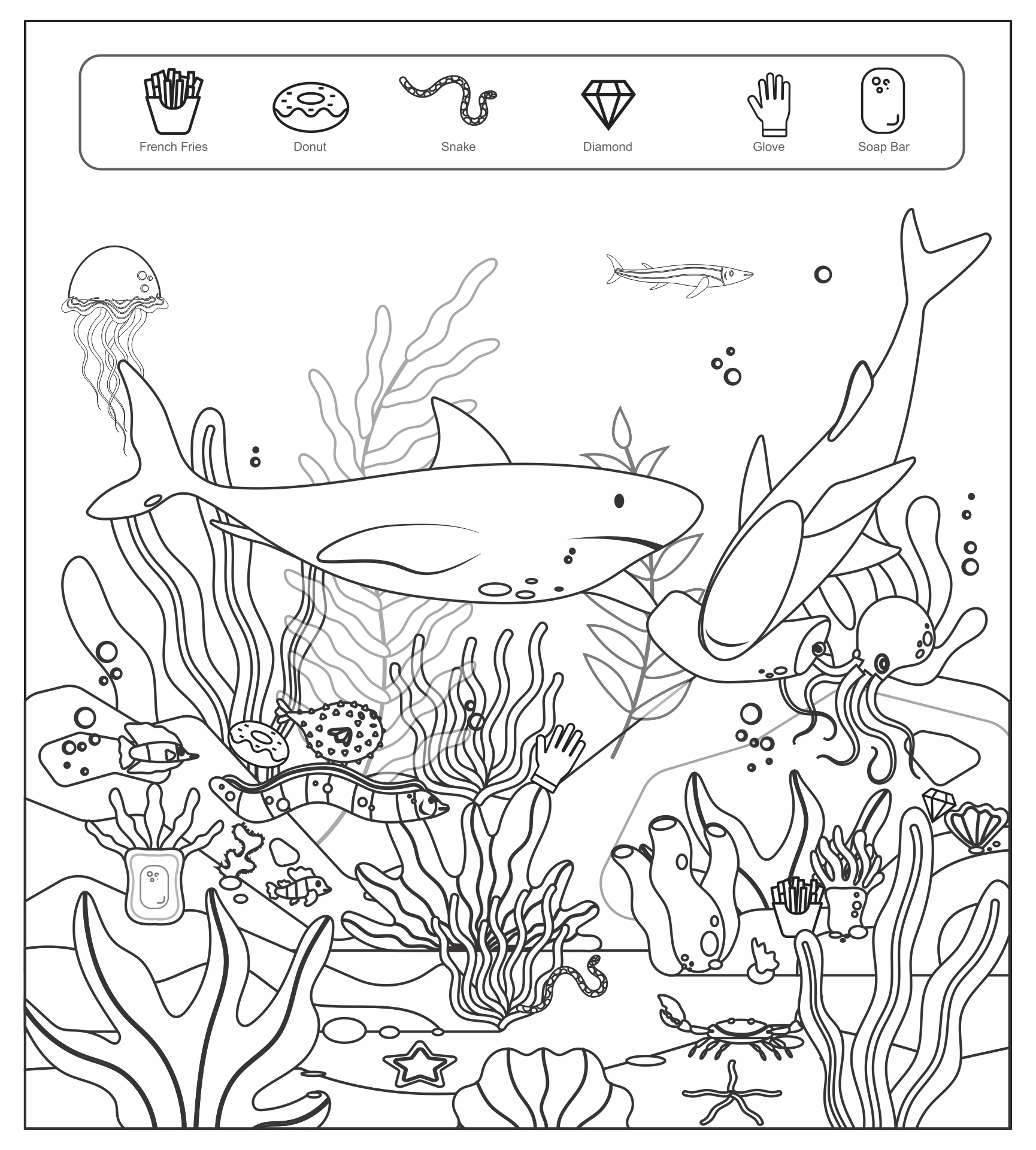 find it coloring pages | 5 Best Images of Easy Printable Hidden Pictures Highlights ...
