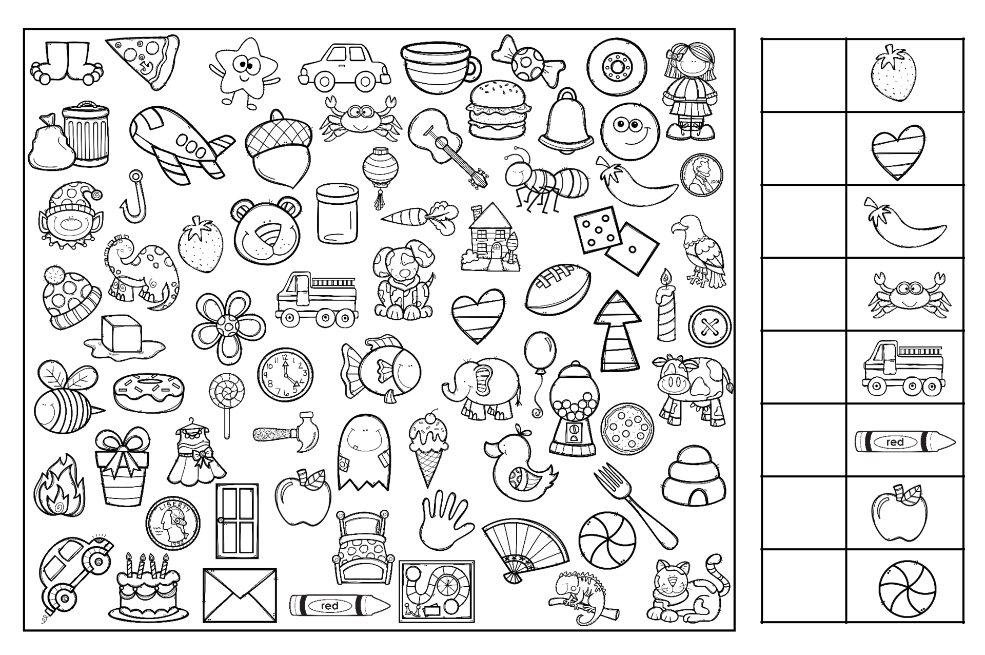 Hidden Pictures Coloring Pages Highlights Puzzle