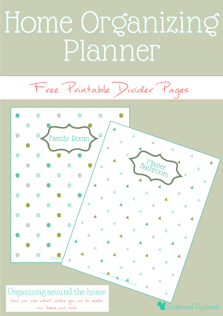 Free Printable Home Organizing Planner