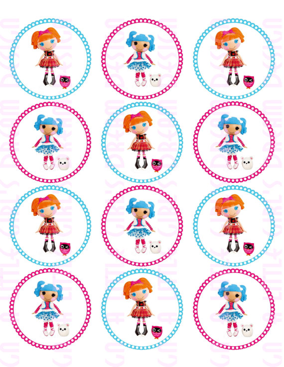 7 Images of Printable Lalaloopsy Stickers
