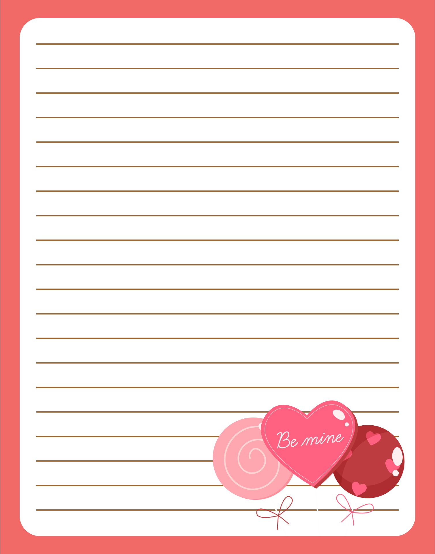 8 Images of Cute Owls Love Letter Stationery Printable