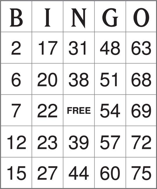 ... Bingo, Free Printable Christmas Bingo Game Cards and Free Printable
