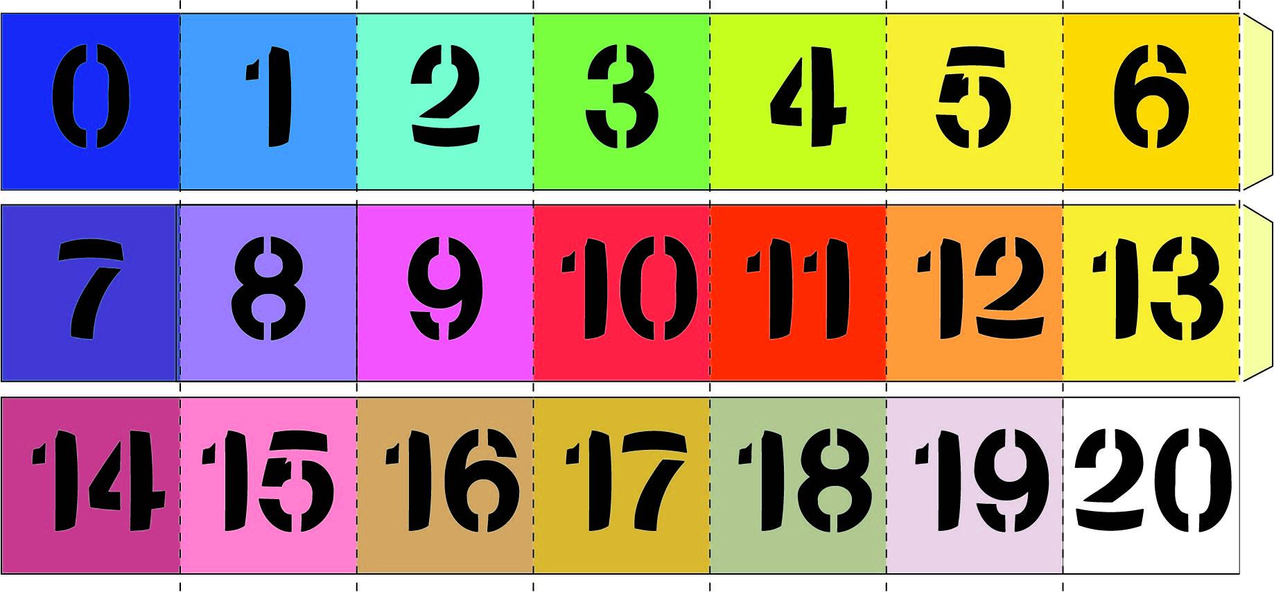 Printable Numbers 1-20