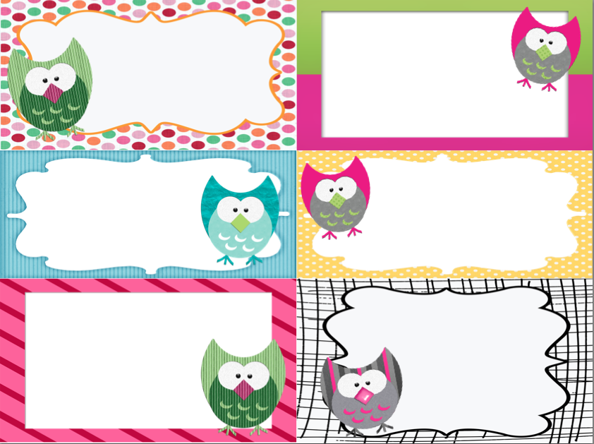 Free Printable Owl Label Templates