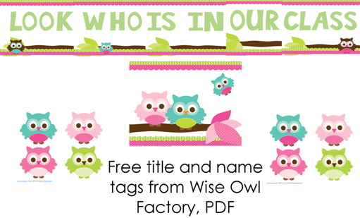 Free Printable Owl Name Tag Template