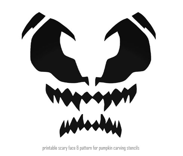 Free Printable Scary Pumpkin Carving Stencils