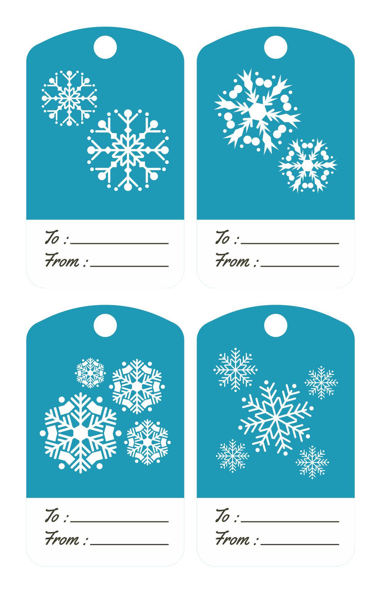 Printable Snowflake Gift Tags