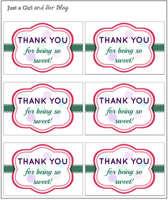 4 Images of Printable Thank You For Coming Tags